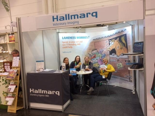 Hallmarq standing MRI stand at a show in Essen, Germany,