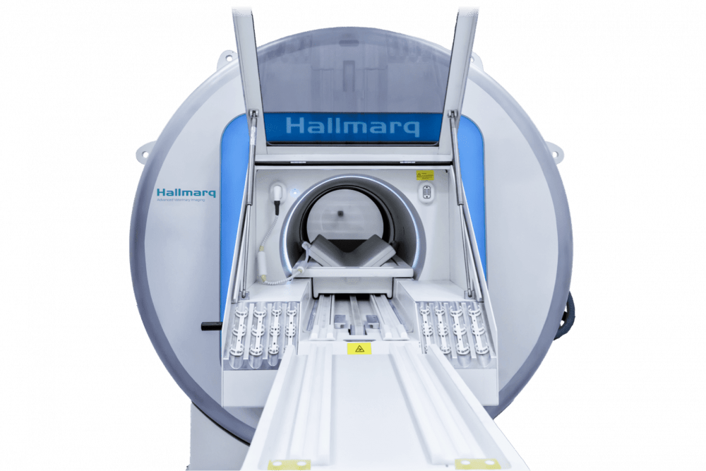Picture of Hallmarq Veterinary imaging specialist's small animal MRI scanner